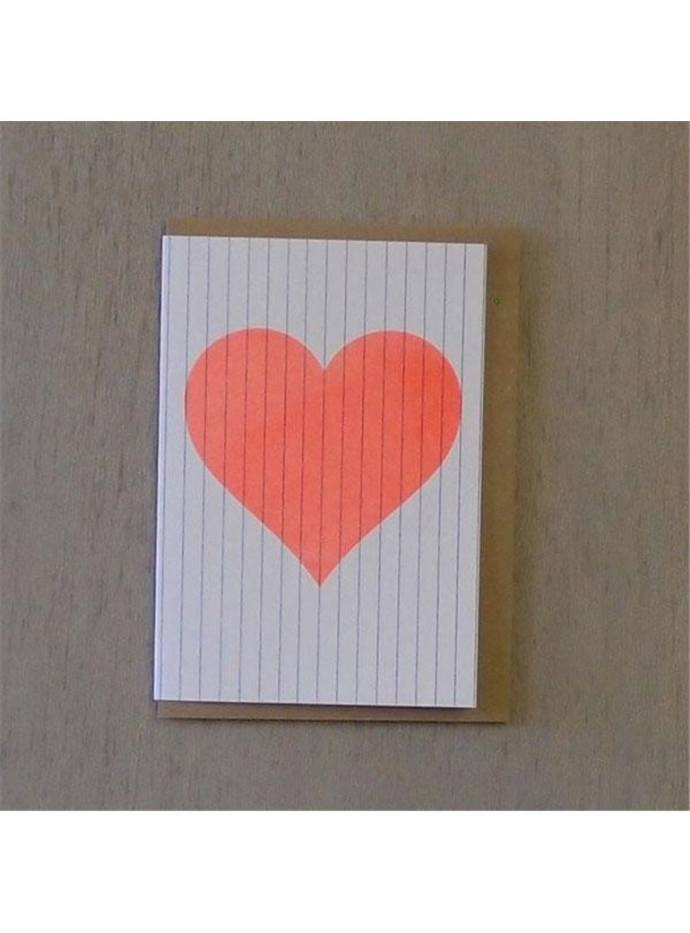 POSTAL Orange Heart