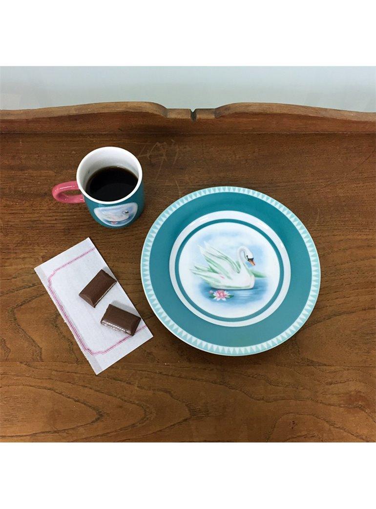 Set de desayuno Cisne cerámica