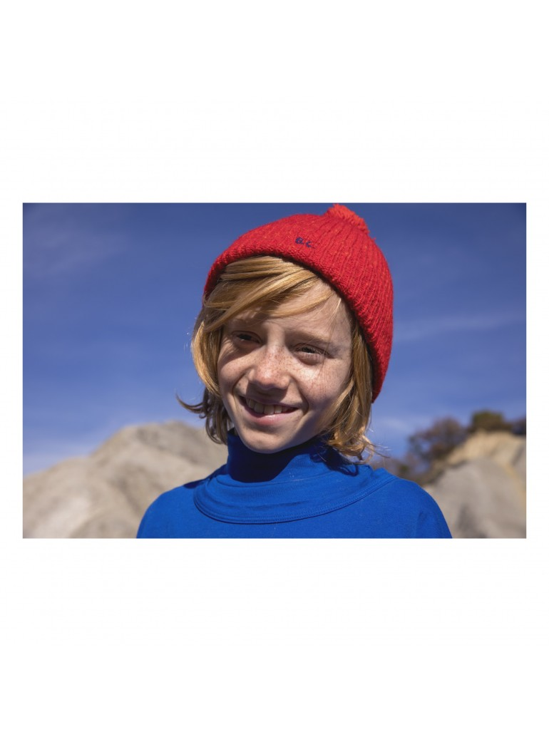 BOBO CHOSES Red Saturn Beanie