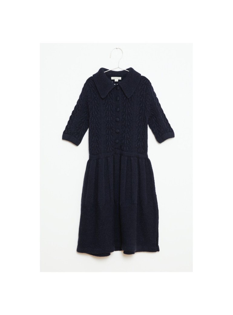 FISH&KIDS Navy Knitted Dress
