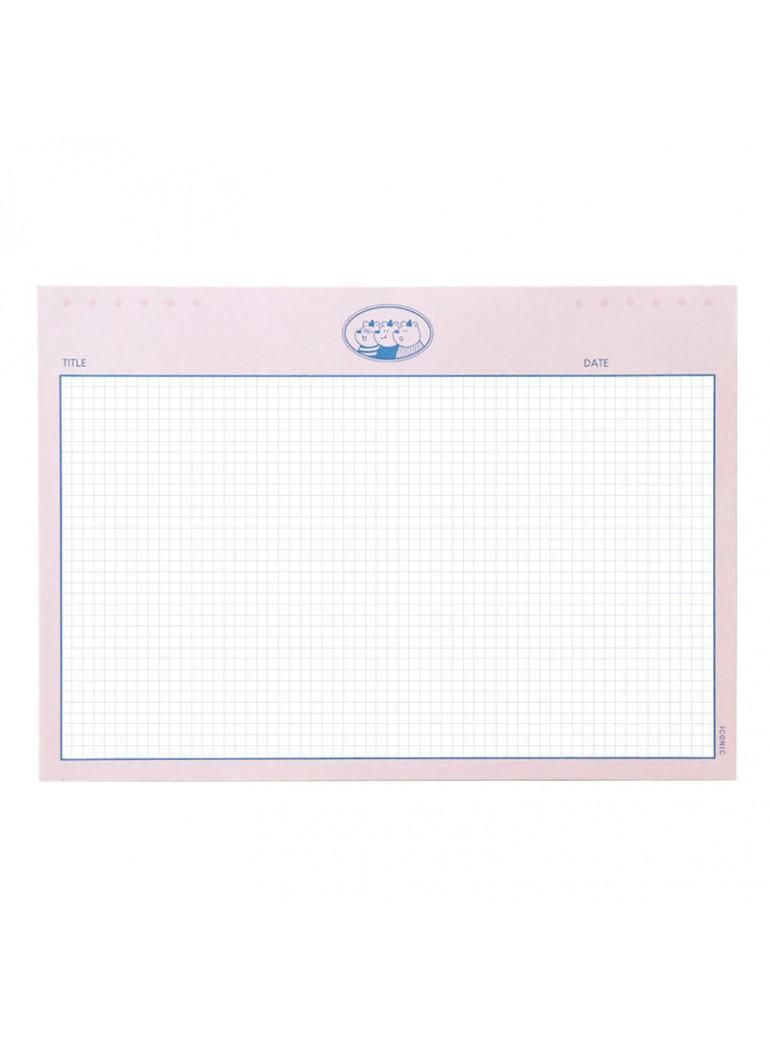 ICONIC B5 Buddy notepad Pink