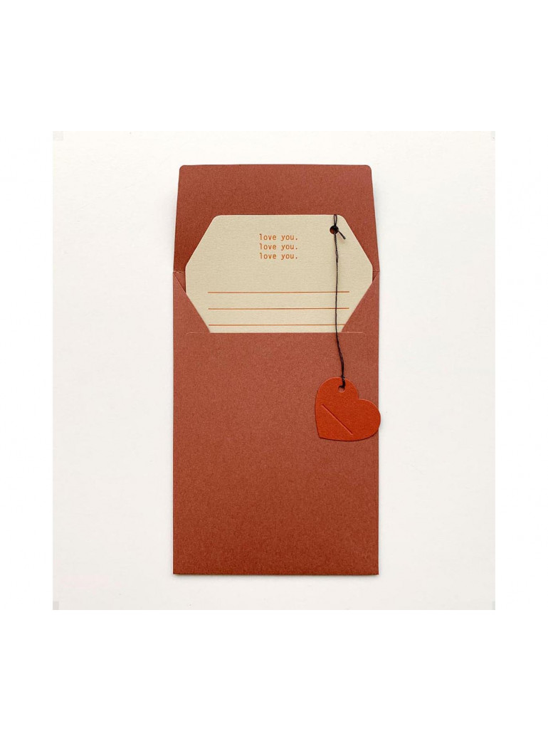 LOVE YOU Message Card
