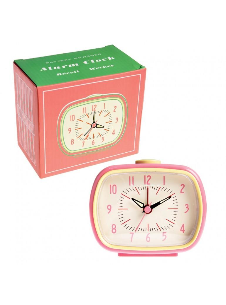 RETRO Alarm Clock - Pink