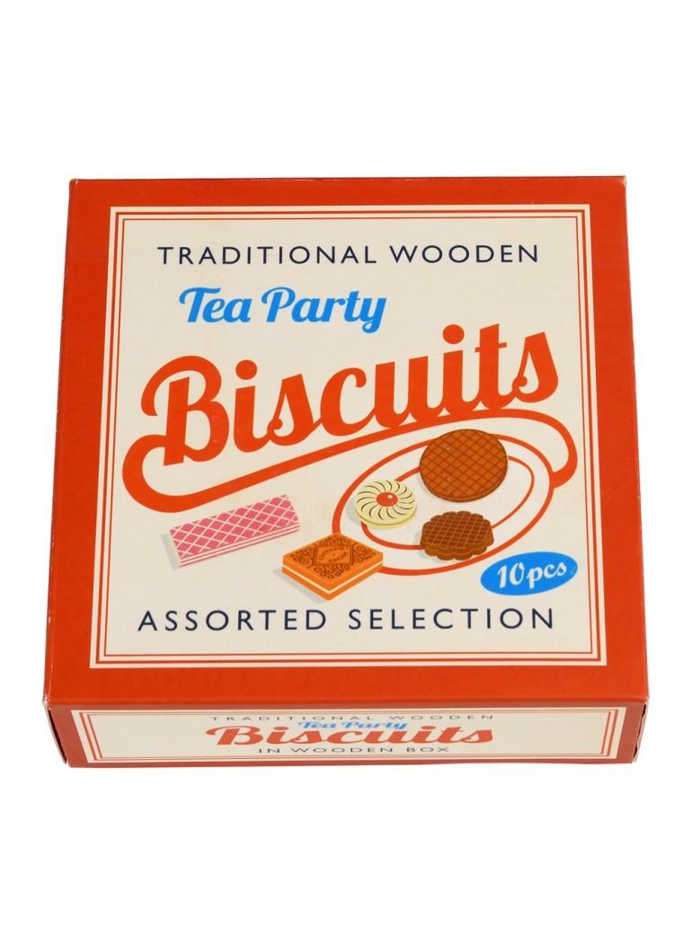 WOODEN Tea Party Biscuits -...