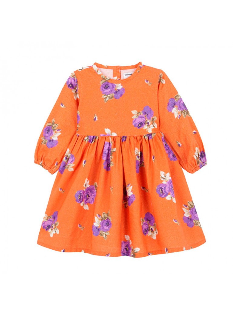 YELLOW PELOTA Folklore Dress
