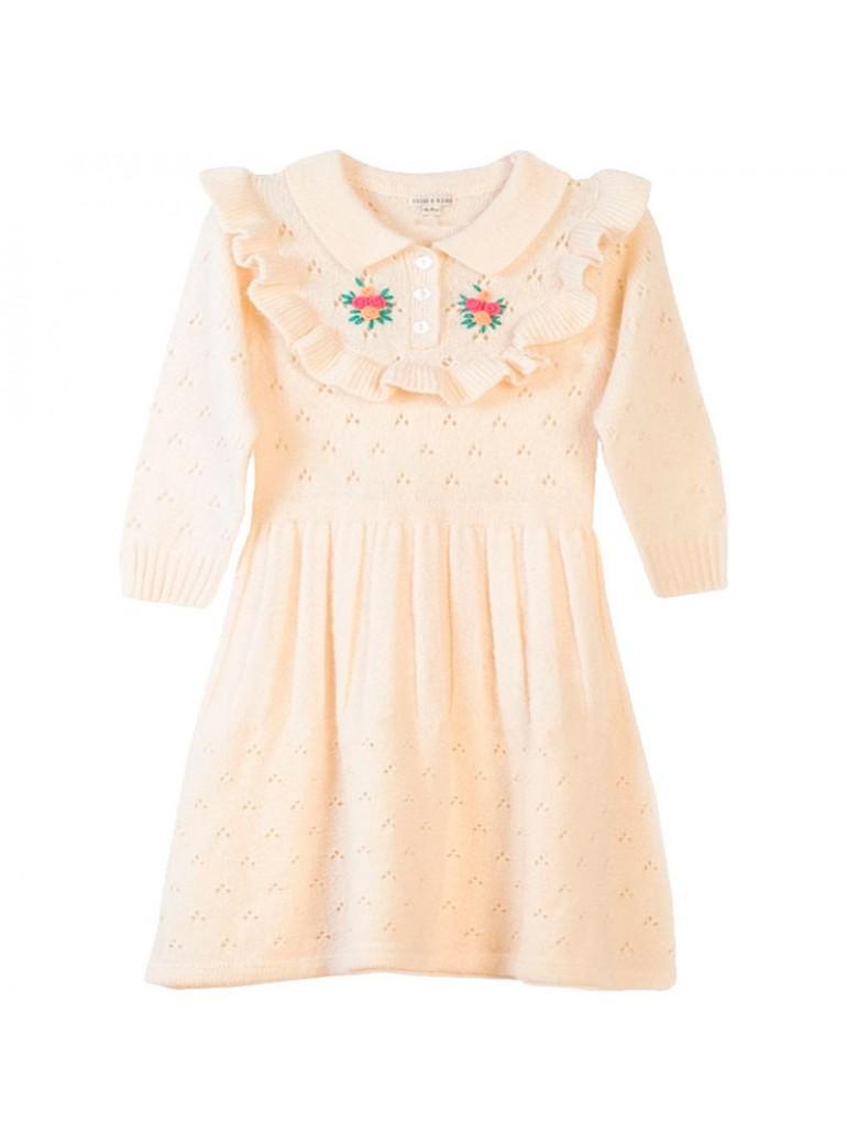 FISH&KIDS Ruffle Knitted Dress